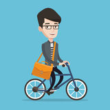 Man riding bicycle vector illustration. Royalty Free Stock Photo
