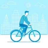 Man riding bicycle Royalty Free Stock Photos