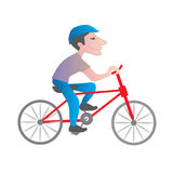 Man riding bike Stock Photo