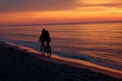 Man riding bike Royalty Free Stock Photos