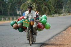 Man riding bike Stock Photography