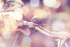 Man riding a bike. Royalty Free Stock Photos