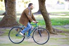 Man riding in bike Royalty Free Stock Photo