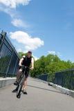 Man Riding a Bike Stock Photo