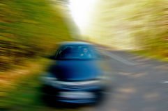 Man riding in the car Royalty Free Stock Images