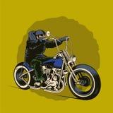 Man riding a chopper bike Royalty Free Stock Photo