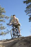 Man Riding Cycle Royalty Free Stock Photography