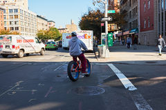Man riding his bike with fat tires nyc Royalty Free Stock Photos