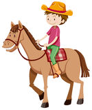 Man riding horse alone. Illustration Royalty Free Stock Photos