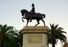 Man riding horse as First Governor General of Australia. Melbourne, VIC, Australia royalty free stock photo