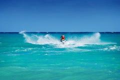 Man riding jet ski Stock Photography
