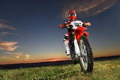Man Riding Motocross Byke Stock Images