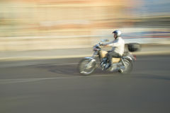 Man riding motorcycle in Nice, France Royalty Free Stock Image