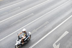 A man riding motorcycle Royalty Free Stock Photo