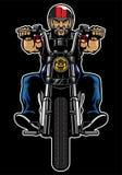 Man Riding motorcycle Stock Photos