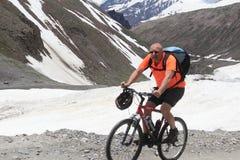 Man Riding Mountain Bike. Stock Photography