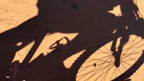 Man riding a mountain bike stock footage