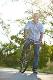 Man riding mountainbike in summer Royalty Free Stock Image