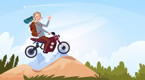 Man Riding Off Road Bike In Mountain Wear In Helmet Travel  Stock Photos