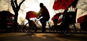 Man riding a Rickshaw Concept Royalty Free Stock Photography