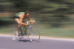 Man riding road bicycle Stock Photography