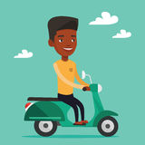 Man riding scooter vector illustration. Royalty Free Stock Photography