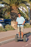 Man riding segway Royalty Free Stock Photos