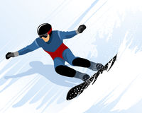 Man riding on snowboard Royalty Free Stock Photography