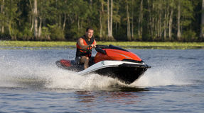 Free Man Riding Wave Runner Royalty Free Stock Images - 6458369