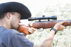 Man with Rifle Stock Images