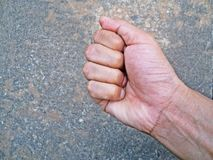 Man right fist ready to fight Stock Photography