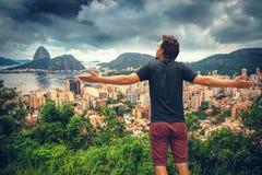 Man in Rio De Janeiro stock image