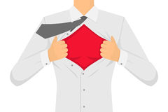 Man Ripping The Shirt. Vector royalty free illustration
