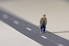 Man on road Royalty Free Stock Photos