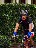 Man on road bike Royalty Free Stock Images
