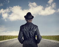 Man on the road Royalty Free Stock Photography