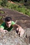 Man Rock-Climbing Royalty Free Stock Image
