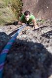 Man Rock-Climbing Royalty Free Stock Photography