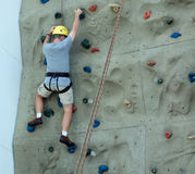 Man Rock Climbing Stock Images