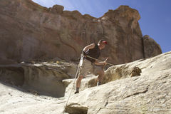 Man Rock Climbing Royalty Free Stock Photos