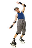 Man in roller blades Royalty Free Stock Images