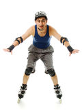 Man in roller blades Stock Images