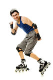 Man in roller blades Stock Photography