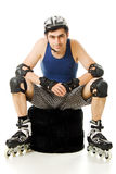 Man in roller blades Stock Photo