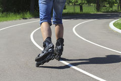 A man on roller skates Royalty Free Stock Photos