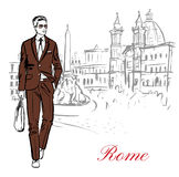 Man in Rome Royalty Free Stock Photo