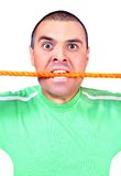 Man with the rope Stock Photos
