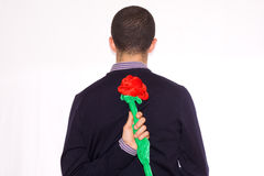 Man with rose Stock Photos