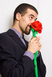 Man with rose Royalty Free Stock Image