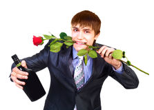 Man with a rose Royalty Free Stock Photo